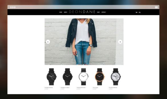 eCommerce website - Deon Dane